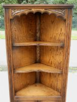 Oak Standing Double Corner Cupboard by Jaycee